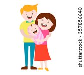 happy young family with a... | Shutterstock .eps vector #357856640