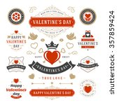 valentine's day labels and... | Shutterstock .eps vector #357859424