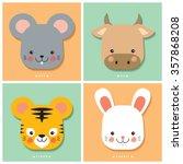 12 Chinese Zodiac Rat  Ox ...