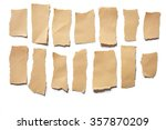 collection real brown paper... | Shutterstock . vector #357870209