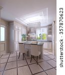 modern  bright  clean  kitchen... | Shutterstock . vector #357870623