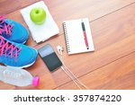 workout and fitness planning...   Shutterstock . vector #357874220
