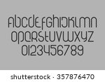 set of stylized  alphabet... | Shutterstock .eps vector #357876470