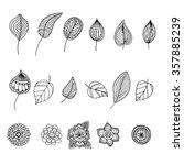 hand drawn zentangle doodle... | Shutterstock .eps vector #357885239