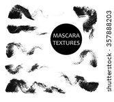 set of 8 artistic mascara black ... | Shutterstock . vector #357888203