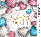 valentine's day party... | Shutterstock .eps vector #357888320