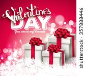 valentine's day party... | Shutterstock .eps vector #357888446