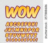 alphabet collection set. comic... | Shutterstock .eps vector #357888686