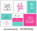 romantic valentines day... | Shutterstock .eps vector #357895940