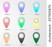 set of marker label for map flat | Shutterstock .eps vector #357905870