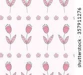 cute bellflowers seamless... | Shutterstock . vector #357911276