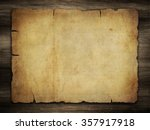 old paper on aged wood | Shutterstock . vector #357917918