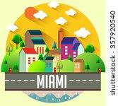 city vector illustration   miami | Shutterstock .eps vector #357920540