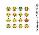 yellow emoticons with thick... | Shutterstock .eps vector #357921320
