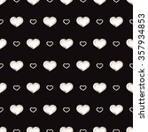valentines day black and white... | Shutterstock .eps vector #357934853