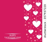 vector valentine's day card... | Shutterstock .eps vector #357937220