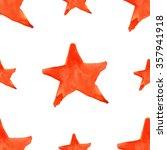 Watercolor Red Orange Five...