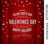 valentine day lettering... | Shutterstock .eps vector #357945788