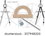geometrical background with the ... | Shutterstock .eps vector #357948203