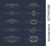 set of decorative borders for... | Shutterstock .eps vector #357949388