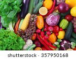fresh fruits and vegetables... | Shutterstock . vector #357950168