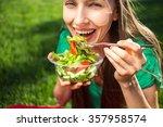 portrait of attractive... | Shutterstock . vector #357958574