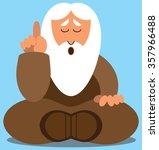 flat vector wise man dispensing ... | Shutterstock .eps vector #357966488