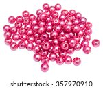beads isolated on white... | Shutterstock . vector #357970910
