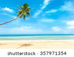 beautiful beach and tropical sea | Shutterstock . vector #357971354