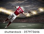 football player with a red... | Shutterstock . vector #357973646