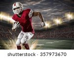 football player with a red... | Shutterstock . vector #357973670
