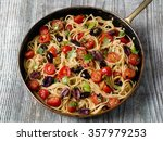 close up of rustic italian... | Shutterstock . vector #357979253