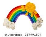 plasticine rainbow isolated on...   Shutterstock . vector #357991574