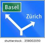 road sign used in switzerland   ...   Shutterstock . vector #358002050