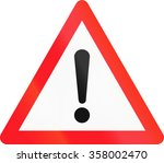 warning sign used in... | Shutterstock . vector #358002470