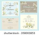 vintage elegant wedding... | Shutterstock .eps vector #358003853