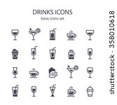 Drinks icons. | Shutterstock vector #358010618