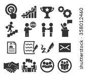 contract icon set | Shutterstock .eps vector #358012460