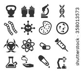 bacteria icon set | Shutterstock .eps vector #358013573