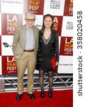 "Small photo of Woody Allen and Soon-Yi Previn at the 2012 Los Angeles Film Festival premiere of ""To Rome With Love"" held at the Regal Cinemas L.A. LIVE Stadium 14, Los Angeles, USA on June 14, 2012."