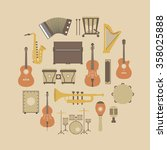 set of classical music... | Shutterstock .eps vector #358025888