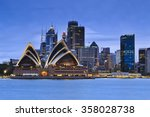 Sydney City Cbd Landmarks Blue - Fine Art prints