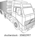 container truck and trailer... | Shutterstock .eps vector #35802997