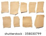 collection real brown paper... | Shutterstock . vector #358030799