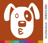 dog face emotion icon... | Shutterstock .eps vector #358031384