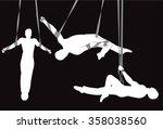 circus aerial straps male...   Shutterstock .eps vector #358038560