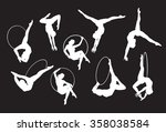 circus lyra aerial performer... | Shutterstock .eps vector #358038584