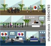 vector flat design of business... | Shutterstock .eps vector #358043783