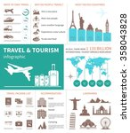 travel and world tourism...   Shutterstock .eps vector #358043828