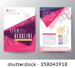 Abstract Triangle shape Poster Brochure Flyer design Layout vector template in A4 size | Shutterstock vector #358043918